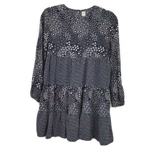 GAP Kids Long Sleeve Dress Girls XL 12 Plus Navy